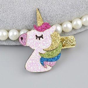 Design Cute Sparkly Unicorn Hair Clips Accessories